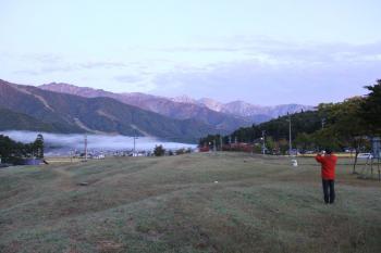 早朝の景色(白馬三山の一つ八方尾根)
