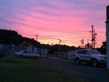 2014年10月10日(金)の夕焼け空