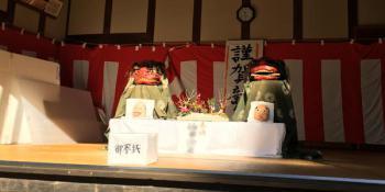 宮沢神社にて