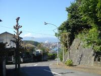 小園子の社前の坂道