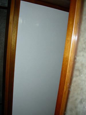 脱衣所の壁(キッチンパネル貼った状態)