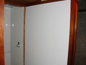 脱衣所の壁施工後