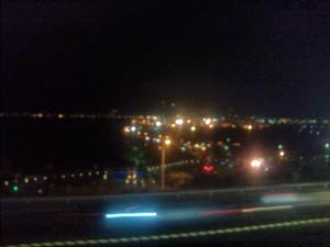 湯船から少し夜景が見える
