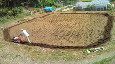 2回目の耕し作業